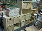 Sale 7974A - Lot 1063 - Timber Shelves w Basket Drawers and Another