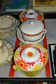 Sale 8151 - Lot 91 - Norwegian Pair of Tureens with Other Ceramic Cookwares incl. Rosenthal (a.f.)