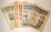 Sale 8418S - Lot 2 - RUGBY LEAGUE NEWS 1954 Vol 34 No. 35 (March) Vol 35 No.2,3,4,8,9 (City v Country), 10 (NSW v QLD), 12, 13 (Sydney v Great Britain),1...