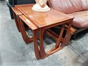 Sale 8723 - Lot 1086 - Quality Sunelm British Teak Nest of Tables