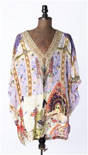 Sale 9003F - Lot 62 - A Camilla silk multicoloured sequinned top, one size