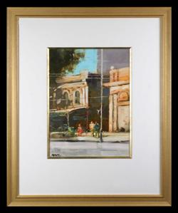 Sale 7923 - Lot 592 - Herman Pekel - Street Scene 51 x 39cm