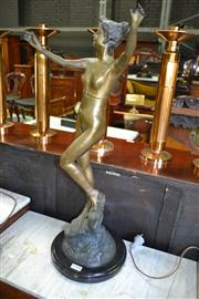 Sale 8093 - Lot 1769 - Art Nouveau Style Bronze on Marble Base