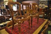 Sale 8326 - Lot 1426 - Set of 8 + 2 Carved & Unstained Mahogany Chair Frames