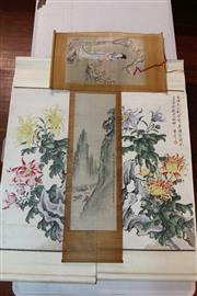 Sale 8362 - Lot 260 - Chinese Pair Of Scrolls With Another Pair