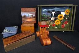 Sale 9254 - Lot 2197 - Sundries incl. Toy Steam Roller, Tray, Boxes, Oriental Wares, etc