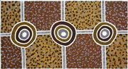 Sale 8321 - Lot 532 - Nina Puruntatameri (1971 - ) - Tiwi Kuloma Ceremony, passed onto Tiwi Children, 2005 80 x 149cm