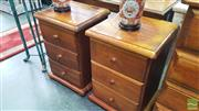 Sale 8404 - Lot 1037 - Pair of Pine Bedside Cabinets