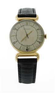 Sale 8406A - Lot 24 - Vintage mens 1950s Wittnauer wristwatch by Longines, 10K gold filled case, 17 jewel manual wind, 30 mm, fine condition