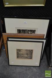 Sale 8458 - Lot 2004 - Collection of (5) early C20th original etchings, each signed (various sizes/framed)