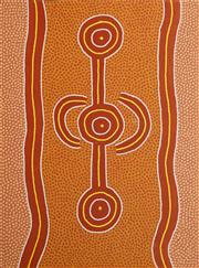 Sale 8647 - Lot 520 - Long Jack Phillipus Tjakamarra (1932 - 1993) - Water Dreaming 120 x 90cm (stretched and ready to hang)
