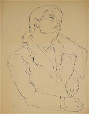 Sale 8908A - Lot 5030 - Desiderius Orban (1884 - 1986) - Portrait of a Woman, 1953 58 x 47 cm