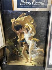 Sale 8910 - Lot 2055 - A. Claude (C20th) Lovers on the Run oil on canvas (AF), 91.5 x 121.5cm, signed