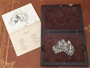 Sale 9055H - Lot 22 - An Australian puzzle in sterling silver limited to an edition of 1/240 copies composed of 23 pieces each representing animal, bird,...