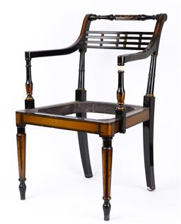 Sale 9135H - Lot 121 - A good quality regency style carver chair, frame in excellent condition. 80cm Height