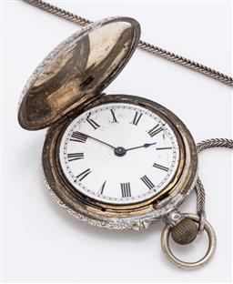 Sale 9180E - Lot 42 - An 800 silver pocket watch, marked FD, total weight 38g
