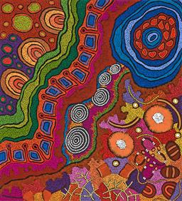 Sale 9239A - Lot 5029 - DAMIEN MARKS JANGALA AND YILPI MARKS ATIRA - My Country 109 x 99 cm (stretched and ready to hang)