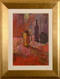 Sale 8171A - Lot 52 - Russell Hollings (NZ 1948-) - Still Life in Red 39x29 cm