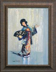 Sale 8316 - Lot 538 - John Banks (1883 - 1945) - Geisha 34.5 x 24.5cm