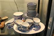 Sale 8360 - Lot 135 - Willow Blue and White Dinner Wares with Others