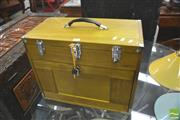 Sale 8406 - Lot 1091 - Timber Cased Travelling Jewellery Cabinet