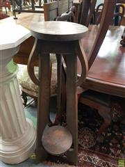 Sale 8566 - Lot 1325 - Tiered Oak Plant Stand (107)