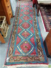 Sale 8580 - Lot 1044 - Pink and Blue Tone Hall Runner (260 x 72cm)