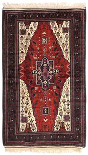 Sale 8725C - Lot 44 - An Antique Persian Beluchi Rug, Hand-knotted Wool, 220x130cm, RRP $3,300