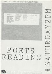 Sale 8766A - Lot 5009 - Art Gallery of New South Wales Poets Reading - letterpress