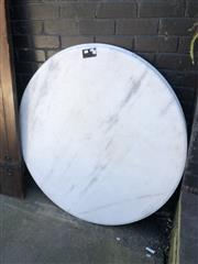 Sale 8801 - Lot 1543 - Round Marble Table Tops x 2