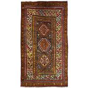 Sale 8830C - Lot 7 - An Antique Caucasian Kazak in Handspun Wool 246x138 cm