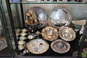 Sale 8217 - Lot 177 - Silver Plated Champagne Bucket with Other Plated wares incl Trays