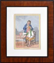 Sale 8325A - Lot 51 - James Gillray (1756 - 1815) - Gentle Emetic; Taking Physick, c1820 25.5 x 18.5cm, each