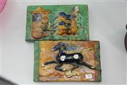 Sale 8340 - Lot 16 - Tang Style Pottery Pair of Tiles