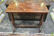 Sale 8359 - Lot 1031 - Victorian Mahogany Hall Table, on pierced lyre supports with turned stretcher
