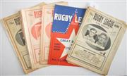 Sale 8418S - Lot 6 - RUGBY LEAGUE NEWS 1958 Vol 39 Nos. 1, 3, 4, 5, 6 (St George v Newcastle), 9 (Great Britain v Sydney), 15, 16, 18, 19, 20, 21, 23