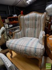 Sale 8472 - Lot 1049 - French Style Armchair with Striped Upholstery
