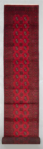 Sale 8499C - Lot 17 - Afghan Turkman Runner 470cm x 80cm