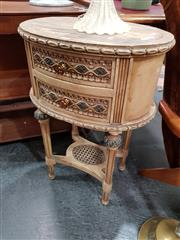 Sale 8688 - Lot 1055 - French Style Hand Painted 2 Drawer Bedside