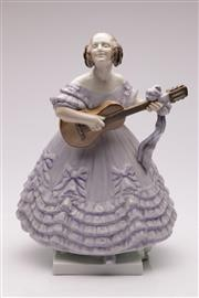 Sale 9064 - Lot 82 - A Large Herend Figure of A Lady Playing Guitar (H 36cm)