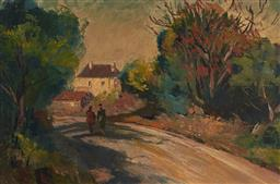Sale 9161 - Lot 503 - TERENCE JOHN SANTRY (1910 - 1990) Carlingford 1, Sydney oil on pulp board 19 x 30 cm (frame: 24 x 35 x 4 cm) signed lower right. Pro...