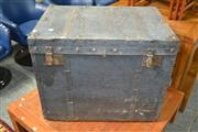 Sale 8115 - Lot 4101 - Metal Bound Travel Trunk