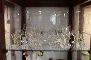 Sale 8217 - Lot 121 - Smoke Glass Drink Dessert Dishes with Other Glass & Crystal