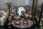 Sale 8217 - Lot 187 - Silver Plated Tea Set with Other Plated wares incl Trays