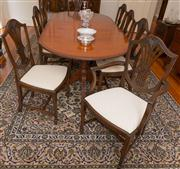 Sale 8308A - Lot 88 - A set of 8 English mahogany Hepplewhite design chairs comprising 2 elbow (carver) chairs and 6 dining chairs. Each shield back with...