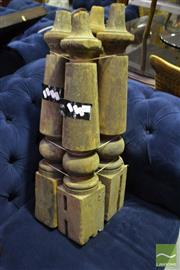 Sale 8472 - Lot 1072 - Set of Four Timber Table Legs