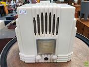 Sale 8566 - Lot 1102 - A Rear White Empire AWA Bakelite Radio with Motlled Back (Dials in Office)