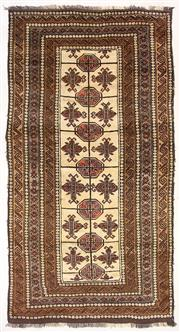 Sale 8725C - Lot 46 - A Vintage Afghan Beluchi Carpet, Hand-knotted Wool, 270x145cm, RRP $2,500