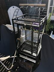 Sale 8801 - Lot 1534 - Metal Bird Cage With Accessories
