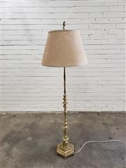 Sale 9059 - Lot 1089 - Brass Floor Lamp with Dragon Figure to Top (H:170cm)